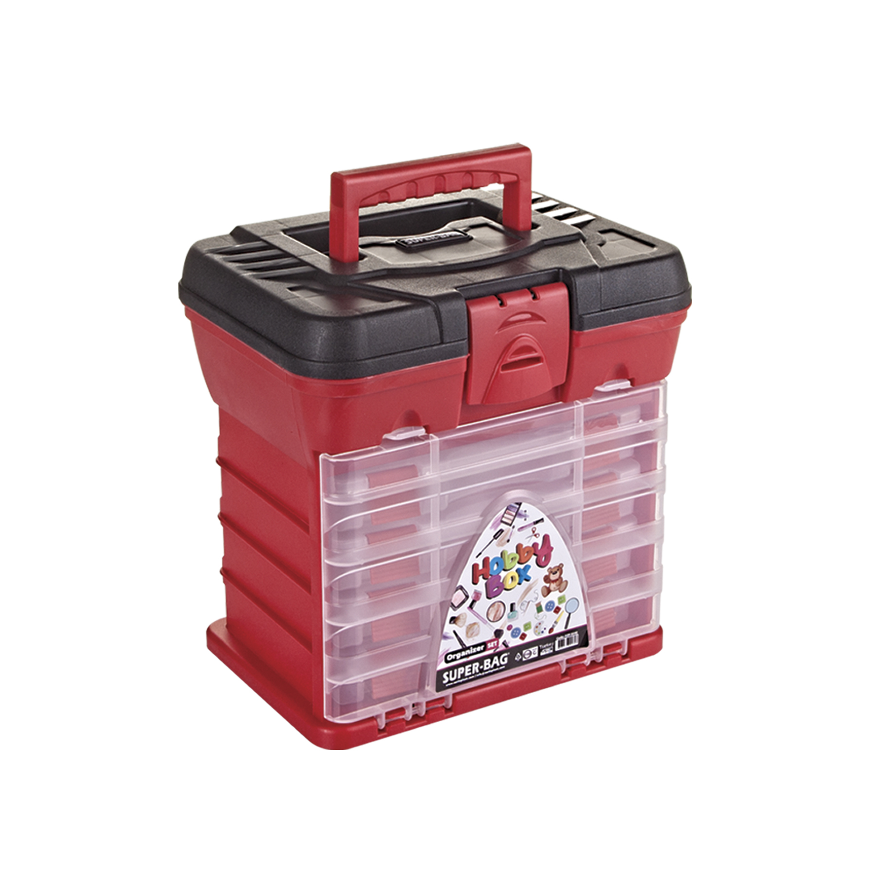 Hobby Organizer Set (Renkli) ASR-5040