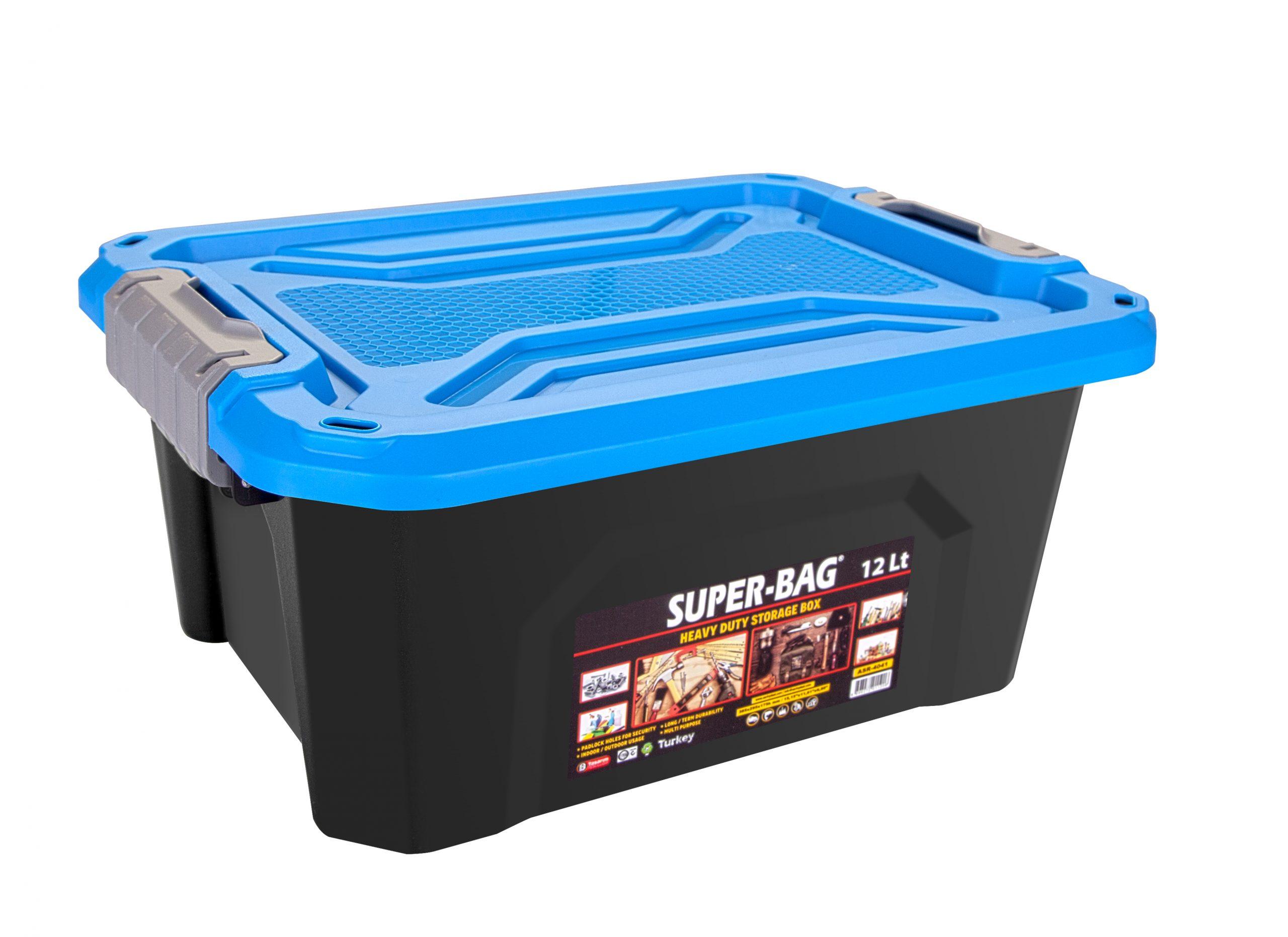 ASR-4041  Superbag Saklama Kutusu Renkli Kapak 12 LT