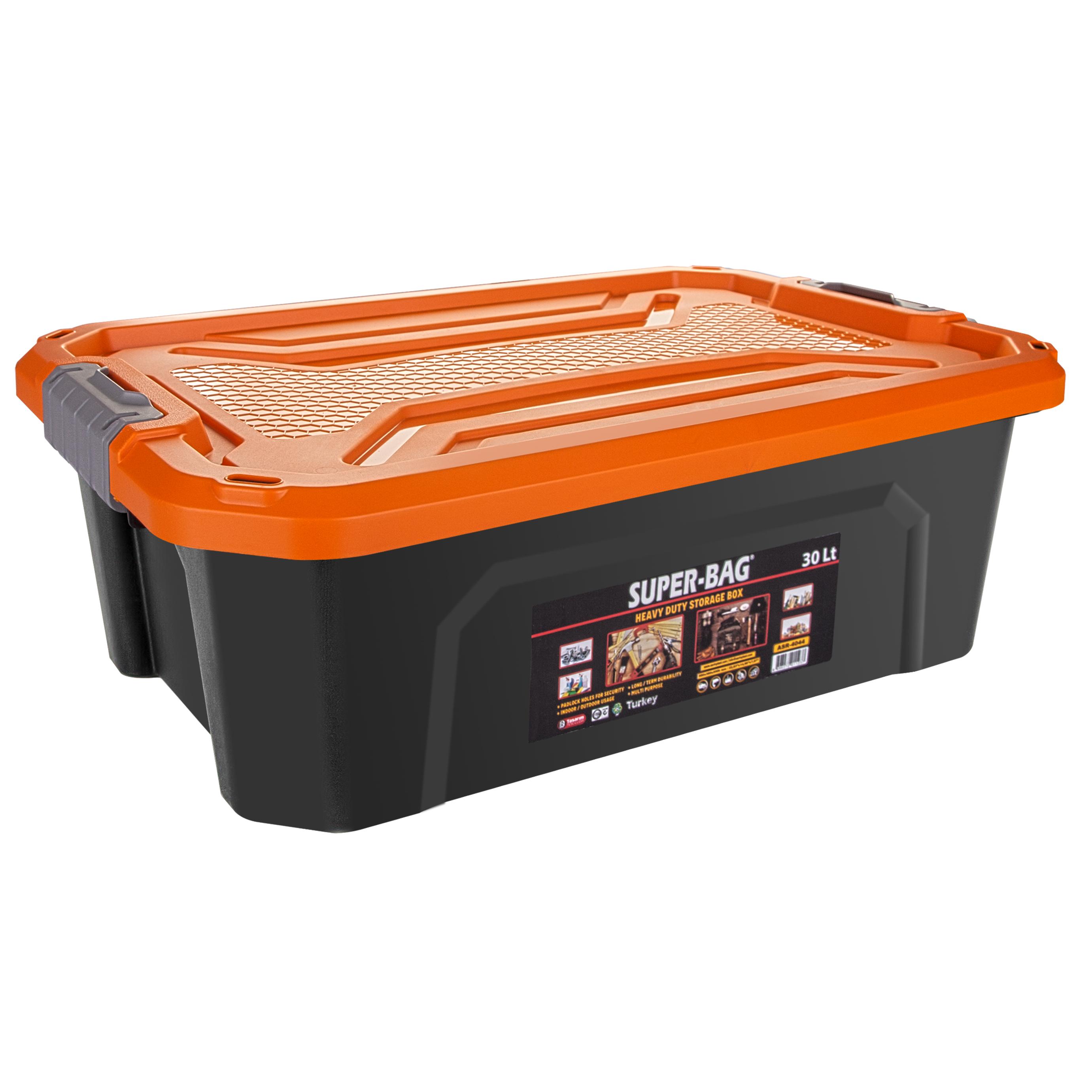 ASR-4044 Superbag Saklama Kutusu Renkli Kapak 30 LT